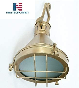 NauticalMart Vintage Brass Finish - Pendant Design Lamp/Ceiling Light/Ceiling Lamp/Pendant Lamp