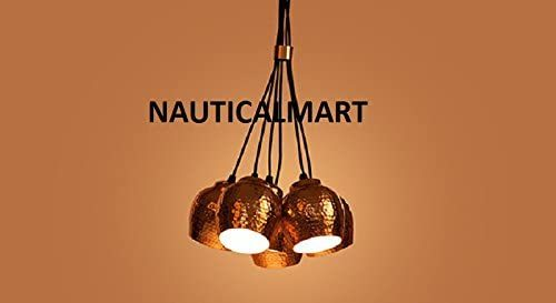 Sputnik Pendant Light Cluster in Copper Finish by Nauticalmart