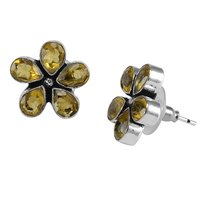 Yellow Quartz Earring PG-122589