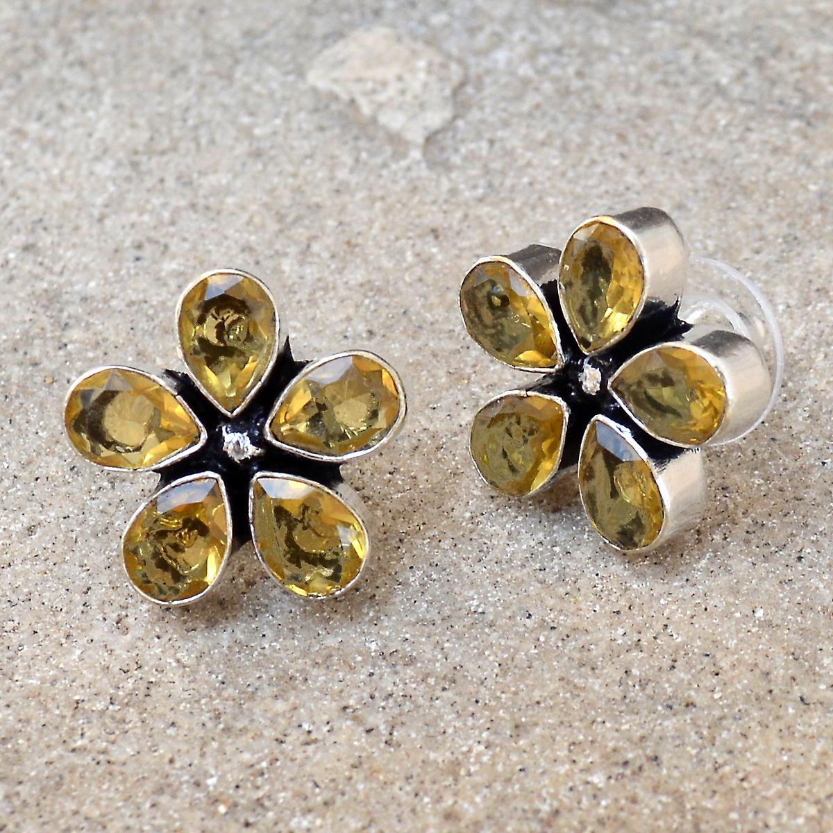 Yellow Quartz Earring PG-122589