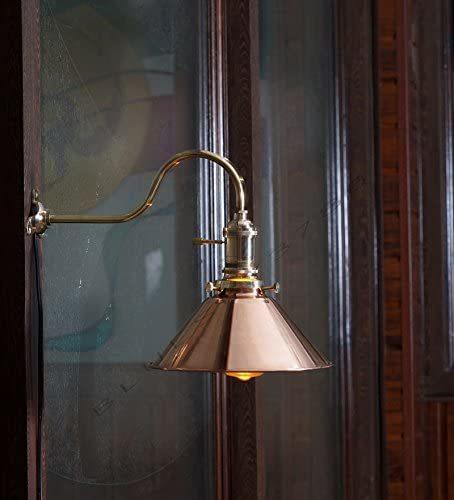 Nauticalmart Vintage Industrial Hanging Pendant Light Copper Shade Retro Edison Wall Lamp