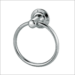 SS Cp Round Diplomat Towel Ring