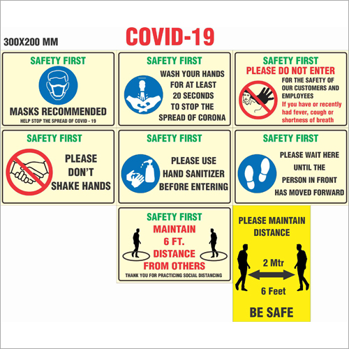 COVID 19 A 2 Signages