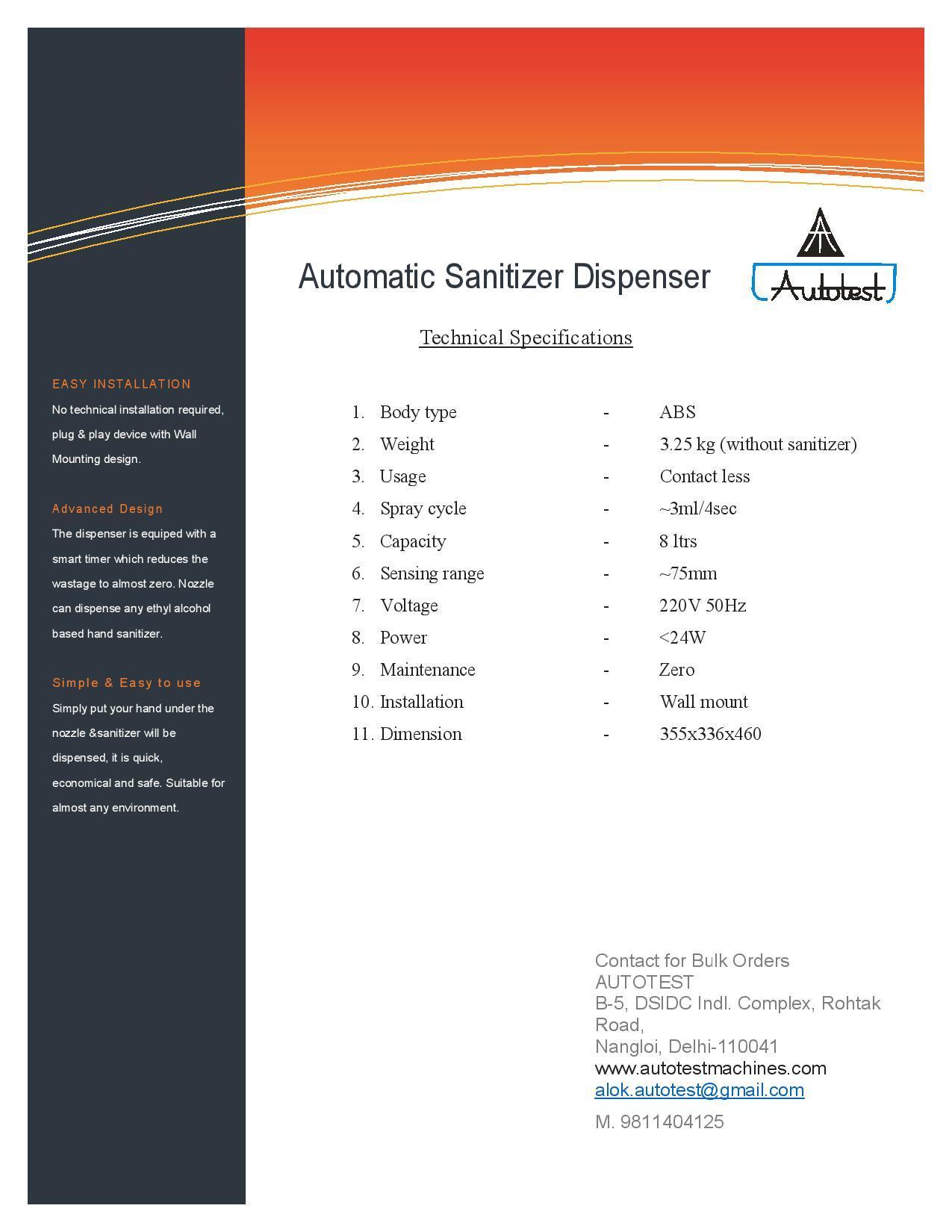 Automatic Hand Sanitizer
