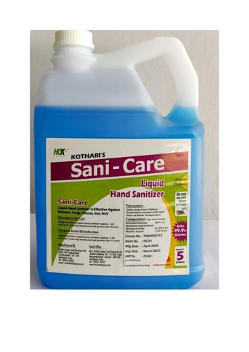 Ethanol based hand sanitizer -5000ml
