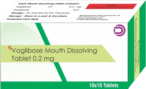 Voglibose Mouth Dissolving Tablets 0.2 mg