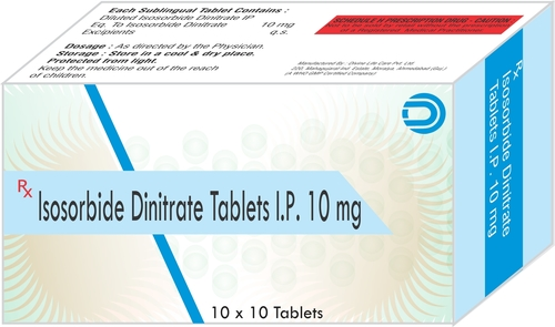 Isosorbide Dinitrate Tablets IP 10 mg
