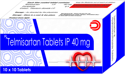 Telmisartan Tablets IP 40 mg