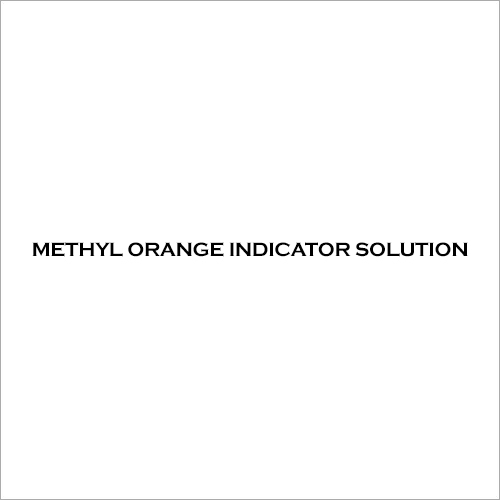 Methyl Orange Indicator Solution