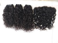 Natural Curly With Matching Frontal, 13x4 Lace Frontal