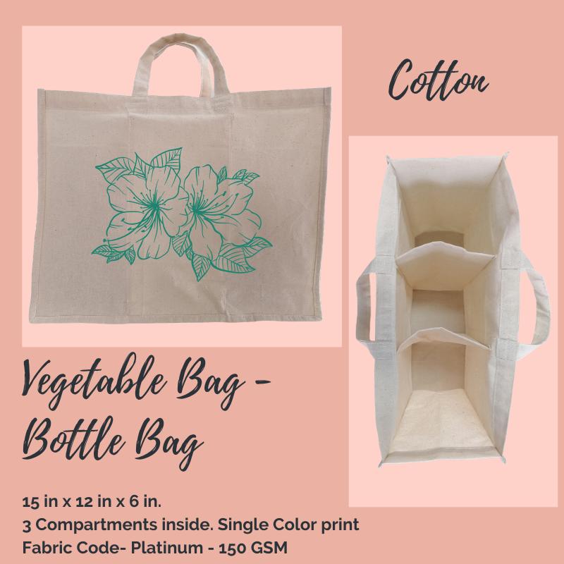 Cotton Bottle and Vegetable Bag