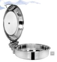 Chafing Dish Induction Base Hydraulic Glass Lid 6.5 ltr. Round - Rs. 5400.00++