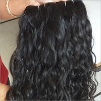 Unprocessed Black Wavy Human Hair Extension