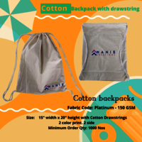 Cotton Backpack Bags