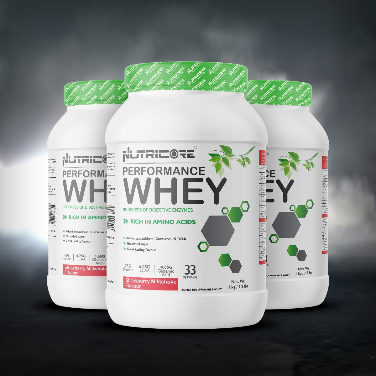 Whey Protein Blend (2.2 LBS) Strawberry Milkshake 1 Kg