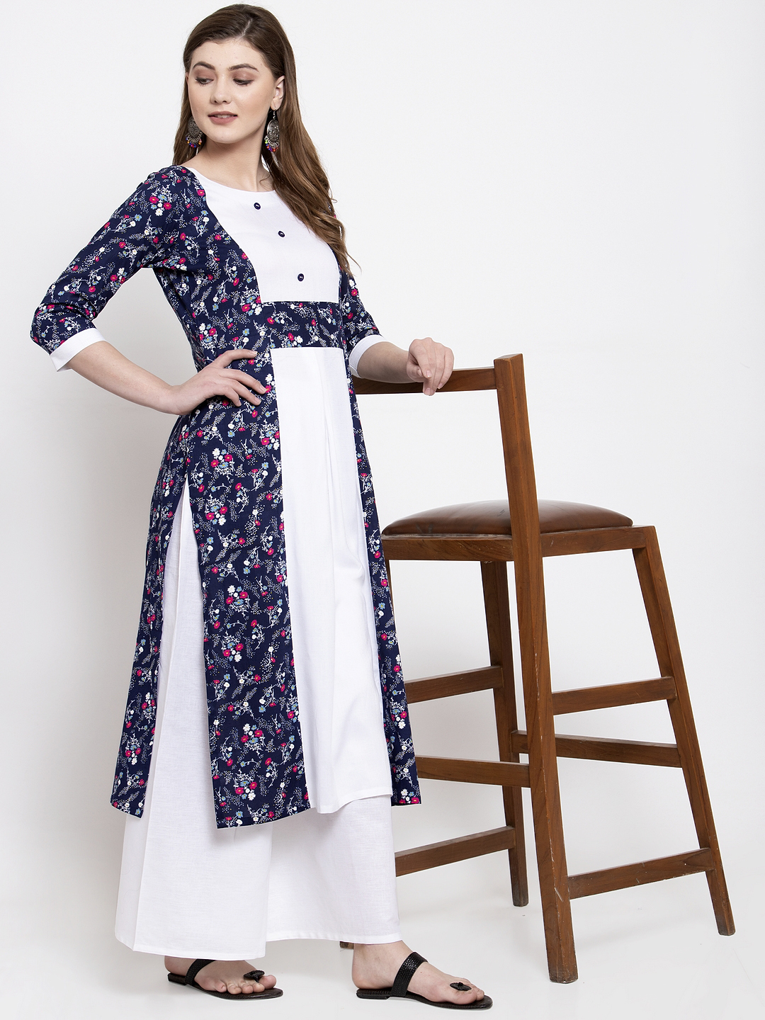 rayon printed kurtis with plazzo