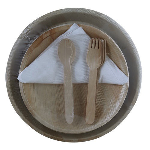 Two Sizes Areca Leaf Plate and Spoon Set