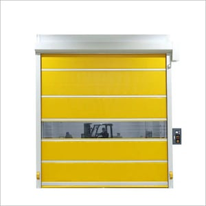 Commercial High Speed Rapid Roll Up Vinyl Garage Doors With Remote Control