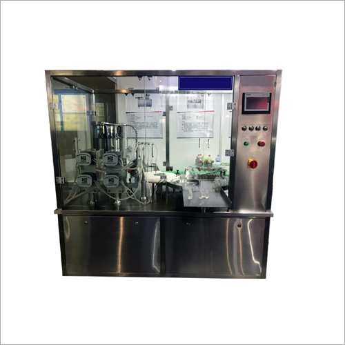 Semi Automatic Plastic Vial Water Rinse Filling Machine