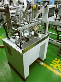 Four-point welding earband machine