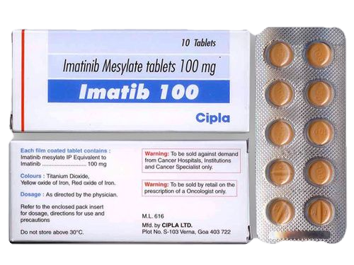 Imatib 100 Tablet (Imatinib mesylate (100mg) - Cipla Ltd)