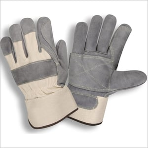 12 Inches Double Palm Split leather Canadian Hand Gloves