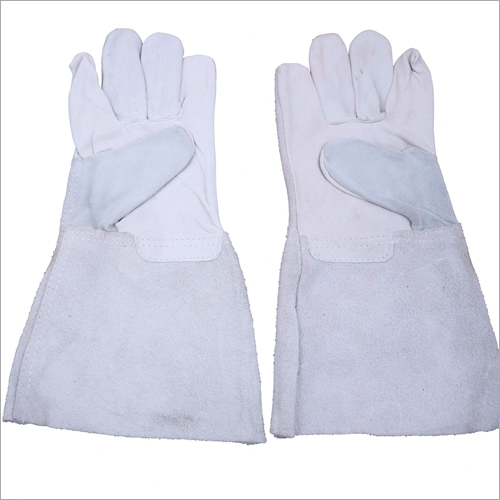 14 Inches Chrome Leather Hand Gloves