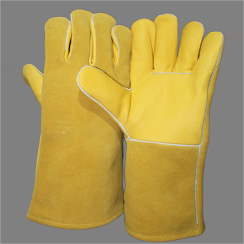 14 Inches Heavy Chrome Leather Hand Gloves