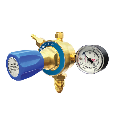 Weldtrix H_SM O2 Single Stage Single Meter Oxygen Regulator