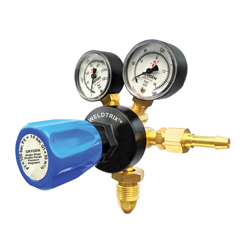 Weldtrix Single Stage Double Meter Oxygen Regulator