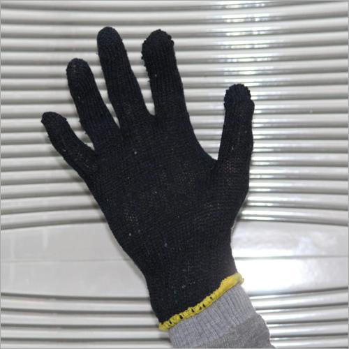 Knitted Black Gloves