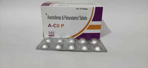 Aceclofenac Paracetamol Tablet (A-CIL P) ALU ALU
