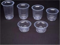 100ml to 300 Ml Hexagon Model PP Glasses And Cups