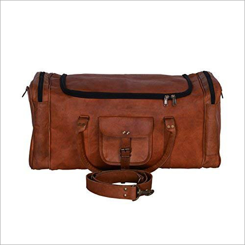 Pure Leather Gym Duffle Bag
