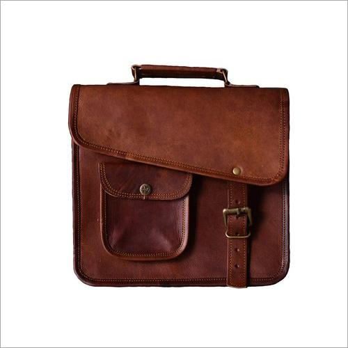 13 Inch Leather Laptop Messenger Bag