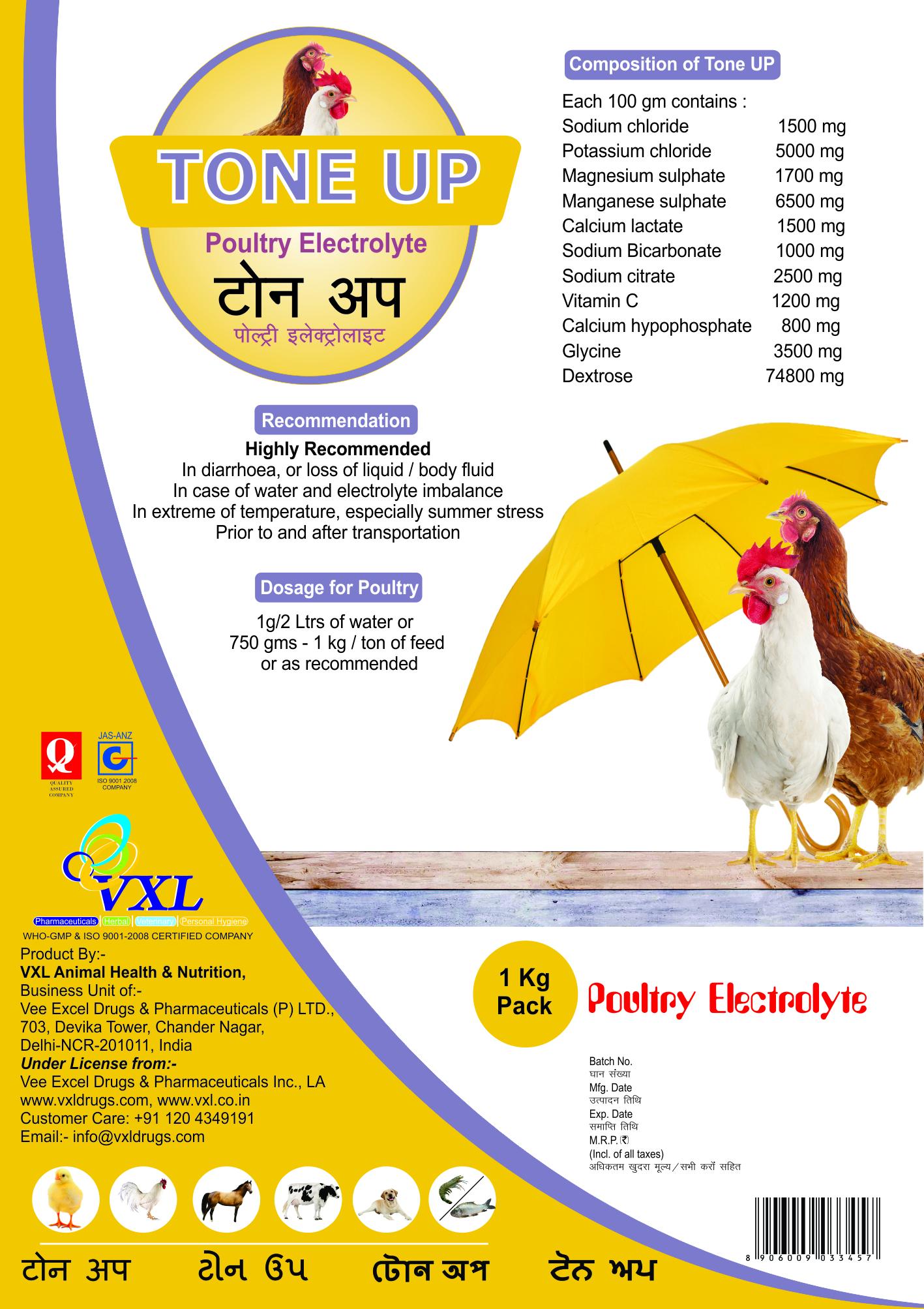 Tone UP - Poultry Electrolyte  Powder