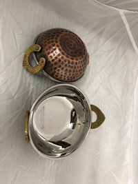 Kadahi Steel Copper Antique Hammered