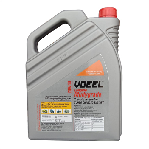 Multigrade 20 W 40 Engine Oil