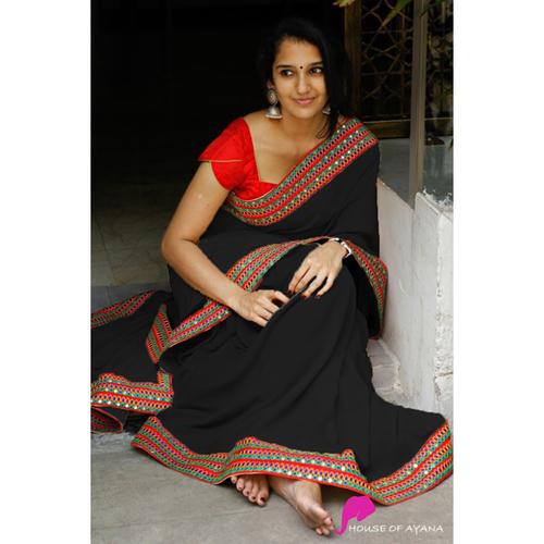 ANAYA Black Designer Saree