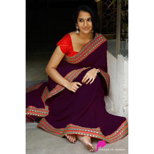 ANAYA Purple Saree