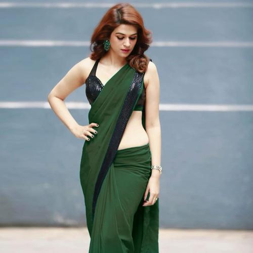 ARADHANA Green Saree
