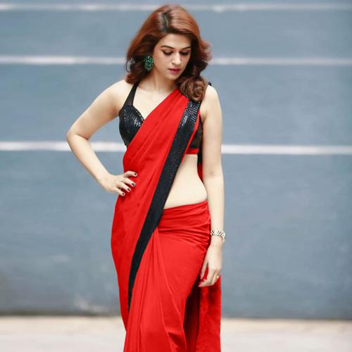 ARADHANA Red Saree