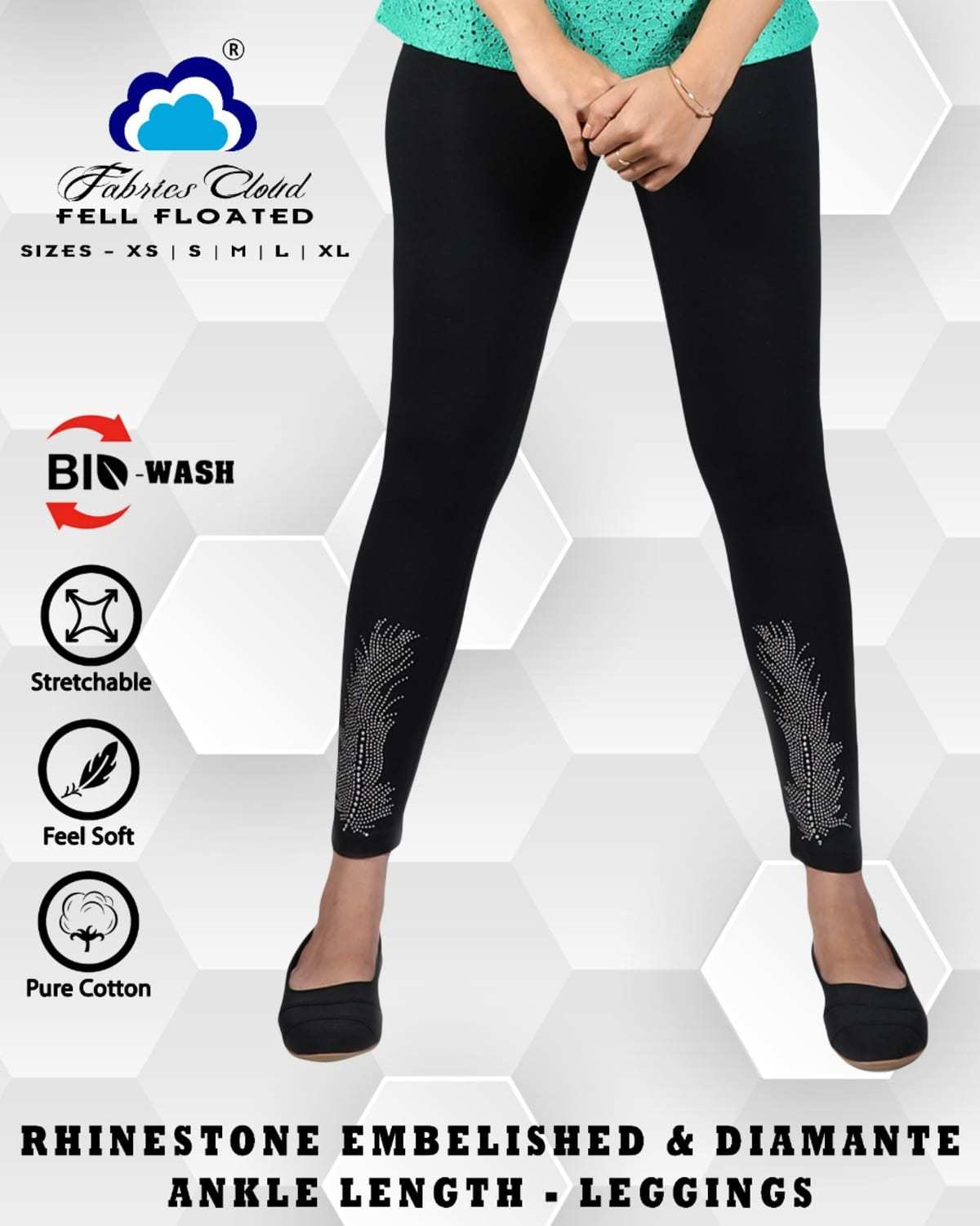 Designer Stone Work Lycra Leggings