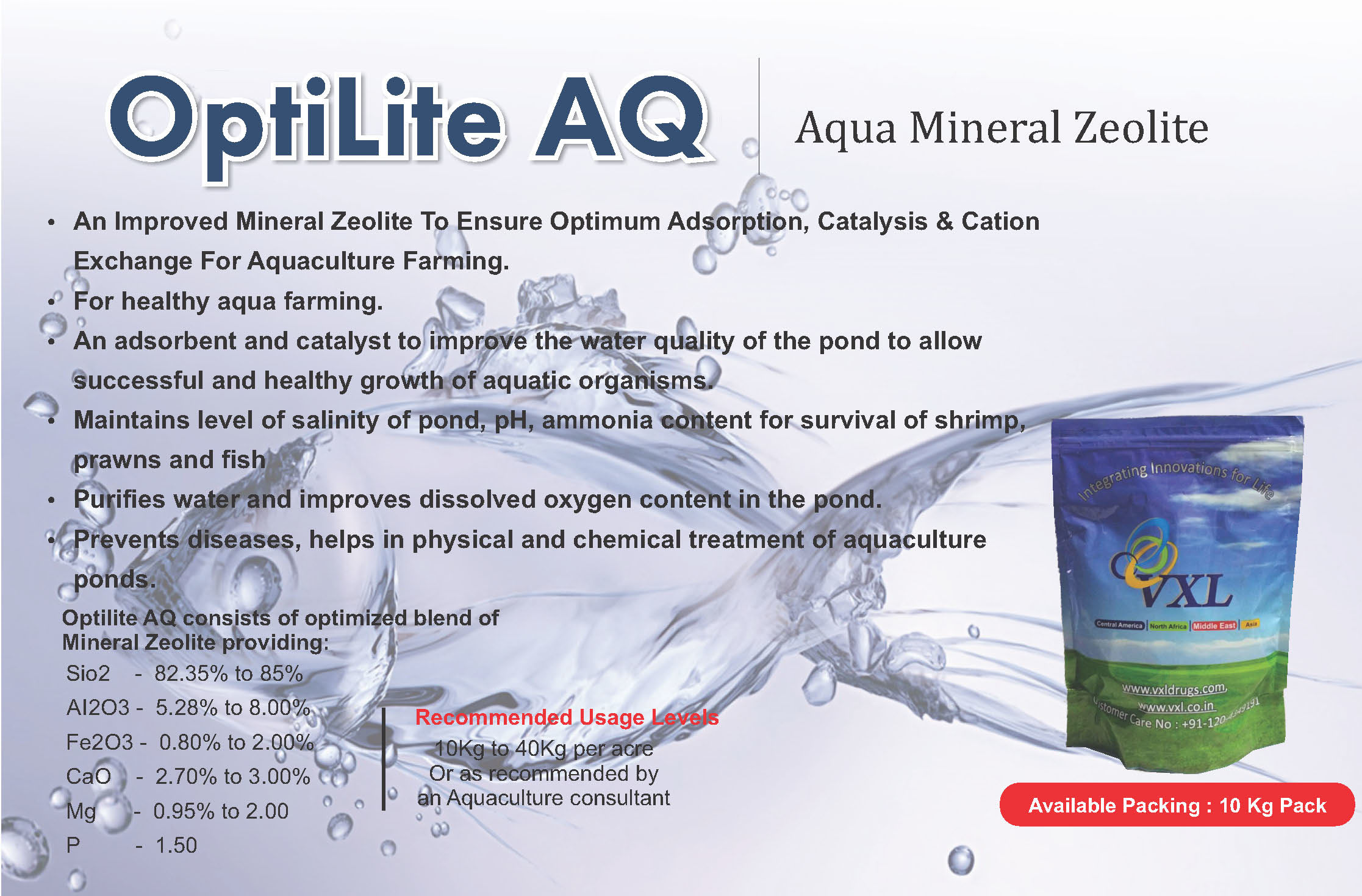 Optilite AQ - Aqua Mineral Zeolite Powder