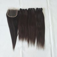 Straight Hair Single Drawn With Closure 4x4