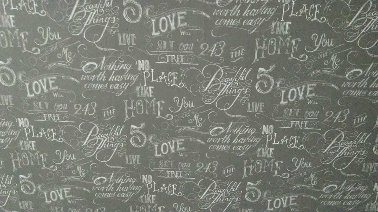 Decorative Text Wallpaper