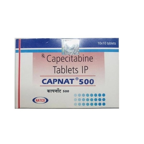 Capnat 500mg Tablet(Capecitabine (500mg) - Natco Pharma Ltd)