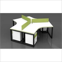 Particle Board L Shape Modular Office Furniture