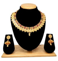 Latest temple collection necklace set