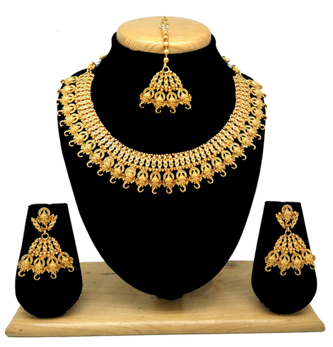 Imitation jewellery temple collection necklace set